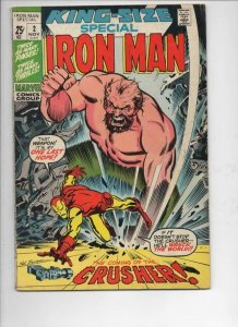 IRON MAN King Size Special #2, FN, Crusher, Colan, 1971, more IM in store,Marvel