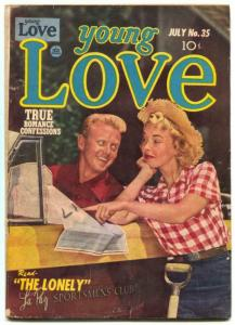 Young Love #35 1952- Photo cover- Golden Age Romance VG