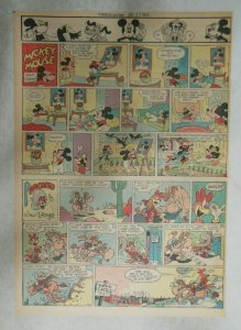 Mickey Mouse Sunday Page by Walt Disney from 7/22/1945 Tabloid Page Size