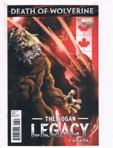 Death Of Wolverine Logan Legacy # 3 NM Canada Variant Cov. Marvel Comic Book S68