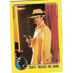 1990 Topps DICK TRACY-TRACY TRACKS HIS MAN #36