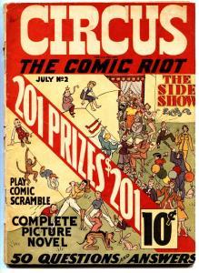 CIRCUS THE COMIC RIOT #2-1938-EXTREMELY RARE-BASIL WOLVERTON-BOB KANE