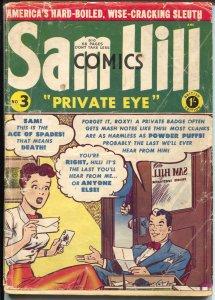 Sam Hill Private Eye #3 1950's-British-reprints pre-code horror-G