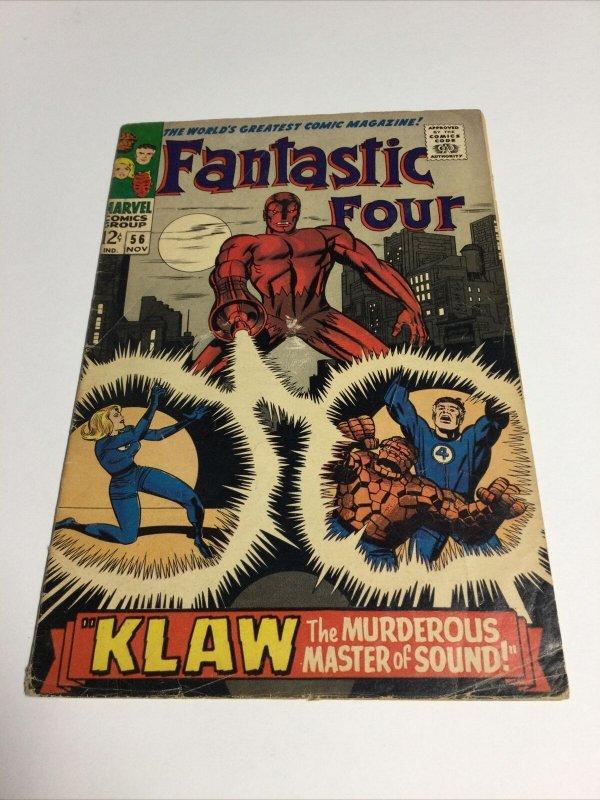 Fantastic Four 56 Vg Very Good 4.0 Marvel Comics