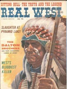 REAL WEST JULY 1962-SITTING BULL-DALTON BROTHERS-JOHN BROWN-BILL TILGHMAN