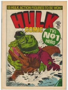 HULK (BRITISH WEEKLY) 3 F-VF INCLUDES HULK STORY BY JO