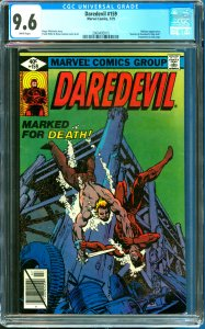 Daredevil #159 CGC Graded 9.6 Bullseye Appearance