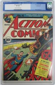 1942 DC~Action Comics #46~CGC 8.0 (VF)~The Devil Playground~Crowley Copy