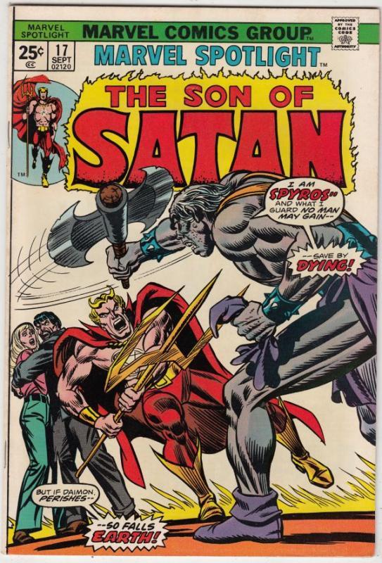 Marvel Spotlight on Son of Satan #17 (Sep-74) NM+ Super-High-Grade Son of Sat...