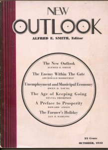 New Outlook 10/1932-1st issue in new format-economics-politics-war-FN