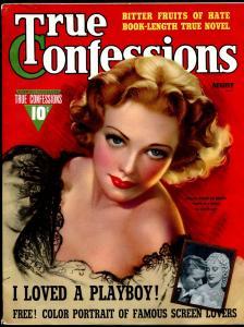 True Confessions 8/1940-Fawcett-Zoe Mozert English-American Beauty cover-pulp-VF