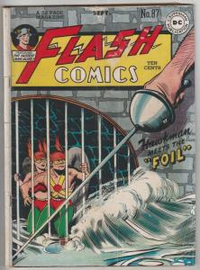 Flash Comics #87 (Sep-47) VG+ Affordable-Grade Flash (Jay Garrett)