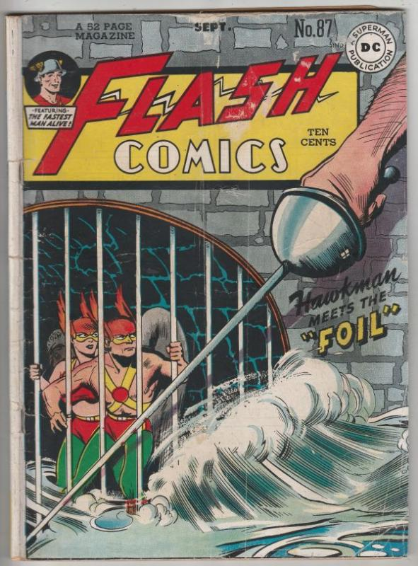 Flash Comics #87 (Sep-47) VG+ Affordable-Grade Flash (Jay Garrett)