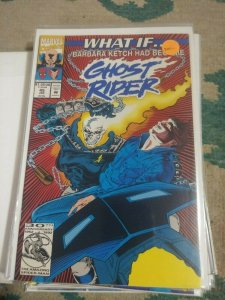 What If...? # 45  1993, Marvel WHAT IF BARBARA KETCH HAD BECOME GHOST RIDER