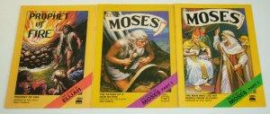 Moses #1-2 complete series + prophet of fire #1 - United Bible Societies Comics