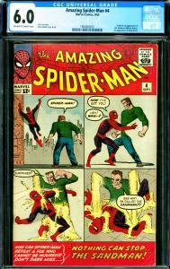 Amazing Spider-Man #4 CGC Graded 6.0 1st Sandman, 1st Betty Brant
