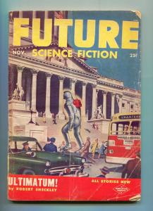 FUTURE SCIENCE FICTION-11/1953-ROBOT MENACE-1953 FORD-PULP-vg