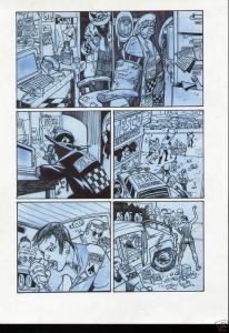 SIMON BISLEY / Andy Brown Original art, KINGDOM of FLIES #1, Signed, Zombies