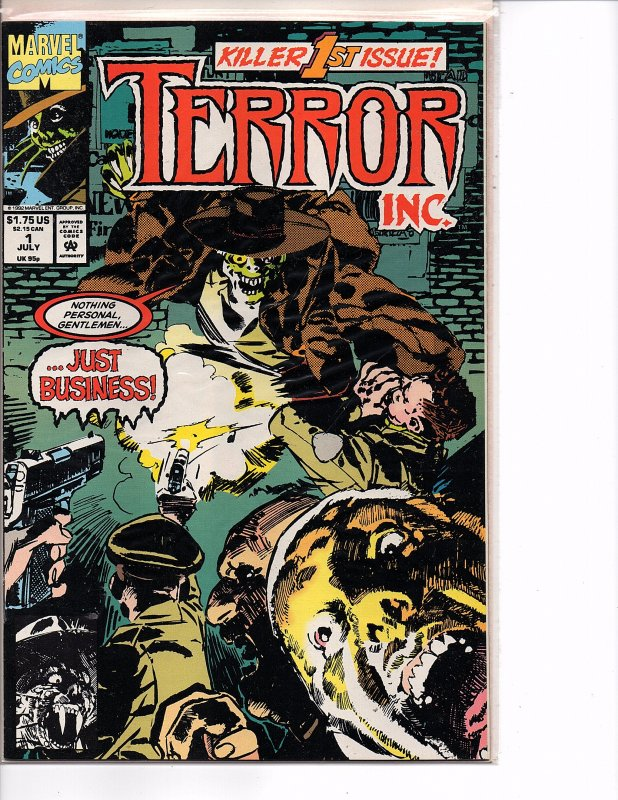 Marvel Comics Terror Inc. #1 1st App. Terror D. G. Chichester