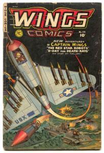 Wings #114 1951- Fiction House- Korean War G