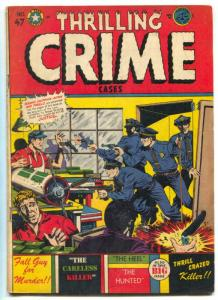 Thrilling Crime Cases #47 1952- LB COLE cover- Golden Age VG