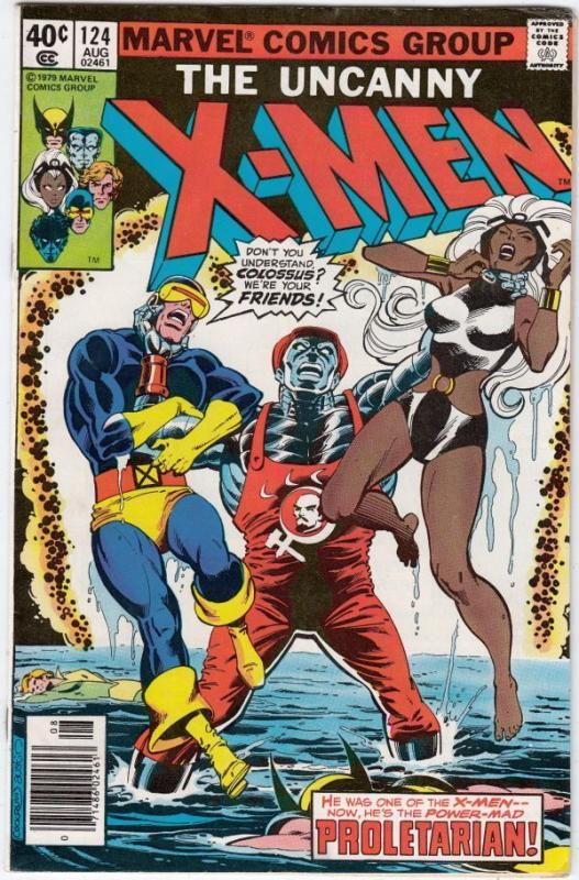X-Men 124 strict VF/NM 9.0 High-Grade  1st Appearance - Proletarian!