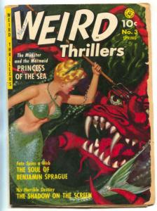 Weird Thrillers #3 1952- Mermaid cover- married cover reading copy