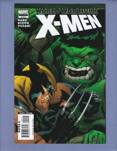 World War Hulk X-Men #2 NM- Hulk Wolverine Marvel 2007