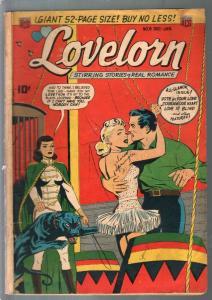 Lovelorn #9 1950-ACG-black leopard-pre-code romance-eye injury-VG