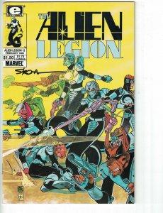 Alien Legion (Vol. 1) #12 FN signed by Larry Stroman - Marvel/Epic Comics 1986