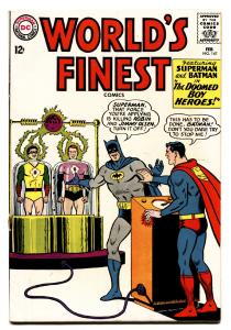 WORLDS FINEST #147 comic book 1965-DC COMICS-BATMAN-SUPERMAN-ROBIN