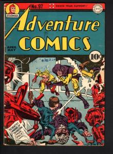 ADVENTURE COMICS #97-SIMON & KIRBY SANDMAN COVER-STARMAN-1945-DC GOLDEN A VG-