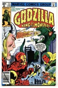 GODZILLA #23 1979-MARVEL-Avengers crossover VF-