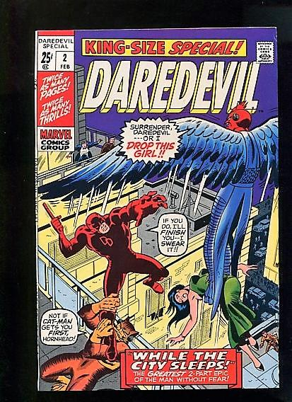 DAREDEVIL ANNUAL  #2  (1971)  9.2 WHITE PAGES  HIGH GRADE