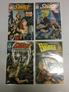 Doc Savage set #1-4 6.0 FN (1987 1st DC Series)