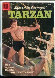 TARZAN #97-1957-DELL-GORDON SCOTT COVER- BURROUGHS- MARSH- MANNING-vg