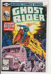 Marvel Ghost Rider #42 Very Fine (8.0) Death of Johnny Blaze (516J)