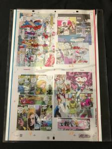 Legion of Super-Heroes #9 Original Production Art- color separation