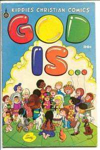 God Is... 1975-Spire Christian Comics-Al Hartley art-VG