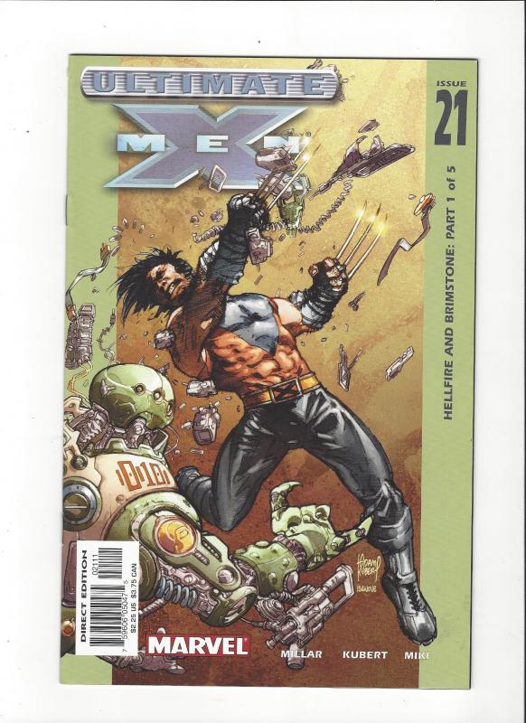 Ultimate X-Men #21 (2001) Hellfire and Brimstone Wolverine Cover NM