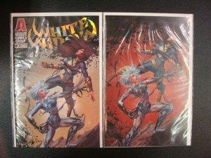 White Widow #3 Silent Partner Variant & Virgin Cover Set ASM 361 Swipe