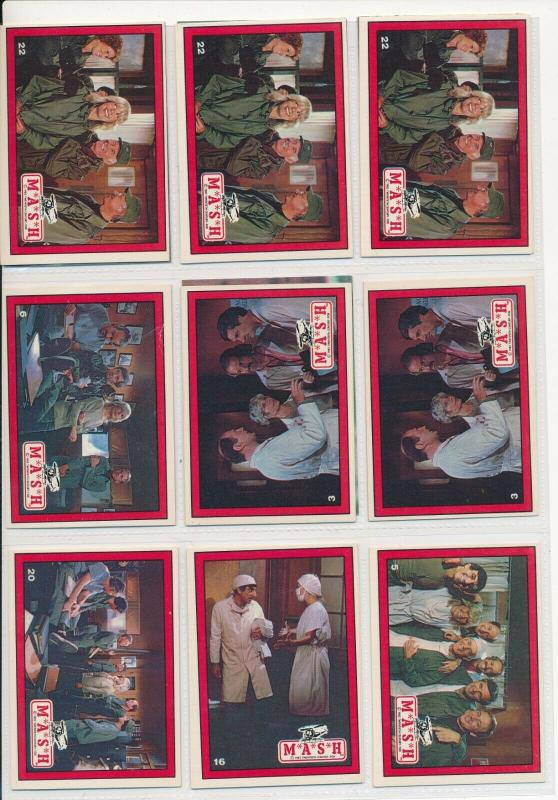 LOT of MASH cards in Sheets, 1982, Tv Show Fox