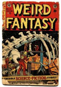 WEIRD FANTASY #22-dinosaur bones cover-E.C. GOLDEN AGE-1953