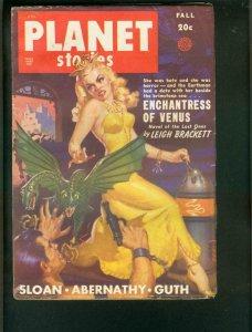 PLANET STORIES FALL 1949-GOOD GIRL ART- ALLAN ANDERSON VF