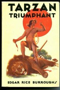 Tarzan Triumphant 1948-ERB-Studley Burroughs-hardback cover-fire survivor-VF/NM