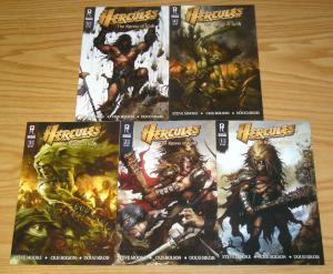 Hercules: the Knives of Kush #1-5 VF/NM complete series - radical B variants set