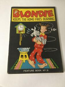 Feature Book 31 Blondie Keeps The Home Vf Very Fine 8.0 King Features GA