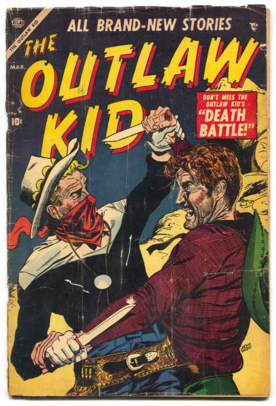 The Outlaw Kid #4 1955- Atlas Western Comic- last golden age issue G/VG