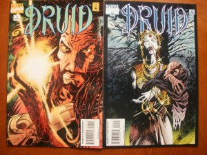 2 Near-Mint Marvel Comic: DRUID #1 #2 (May Jun 1995) Warren Ellis Leonardo Manco