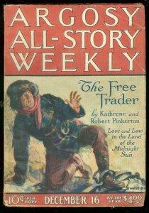 ARGOSY DEC 16 1922-TARZAN & GOLDEN LION-RICE BURROUGHS VG